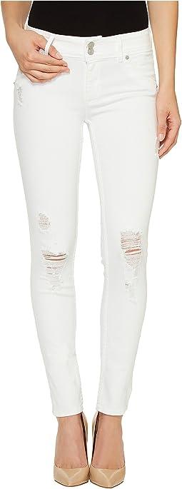 Collin Mid-Rise Skinny Flap Pocket Jeans in Demolish