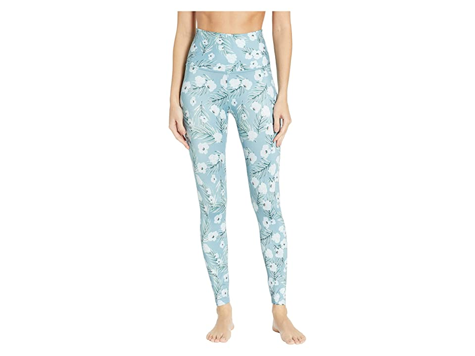 Beyond Yoga High-Waisted Midi Leggings (Sky Blossoms) Women