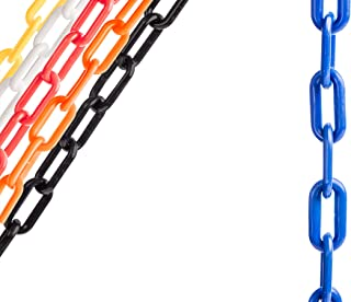 US Weight Chainboss Blue Plastic Safety Chain with Sun Shield UV Resistant Technology - 50 ft