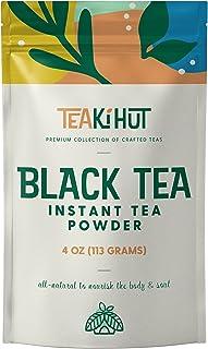 TEAki Hut Instant Black Tea Powder   Zero-Cholesterol Powdered Black Tea Leaves   Unsweetened Instant Tea Mix for Hot & Co...