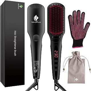 Miropure Cepillo alisador de cabello iónico 2 en 1 Plancha
