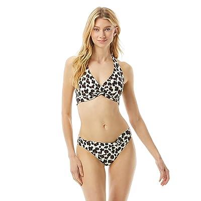 Kate Spade New York Fiji Feline Knotted Halter Bikini Top