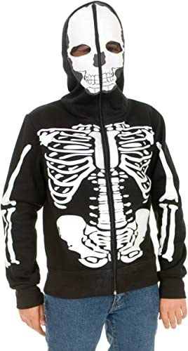 Charades Promo CH00616V-M Jungen Skeleton Sweatshirt Hoodie - Medium