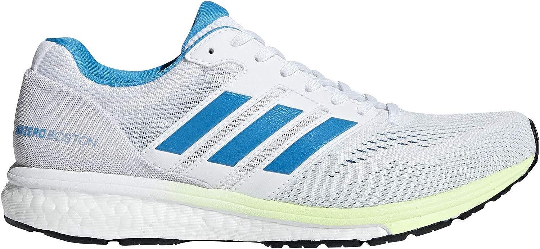 Adidas Damen Adizero Boston 7 Laufschuhe Cloud Weiß Shock Cyan Hi-Res Gelb