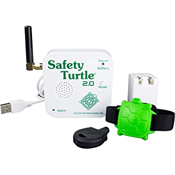 Safety Turtle New 2.0 Child Immersion Pool/Water Alarm Kit - 2 Wristbands