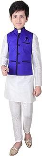 Boys Indian Modi Nehru Gandhi Style Waistcoat Vest for Bollywood theme party 002