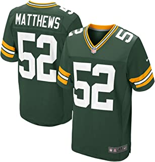 NIKE Clay Matthews Green Bay Packers Authentic Elite On-Field Jersey - Men's 44 (Large)