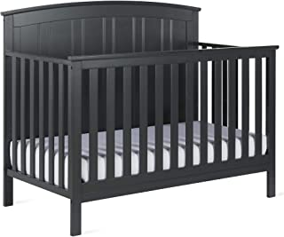 Baby Relax Colton 5-in-1 Convertible Crib, Slate Gray