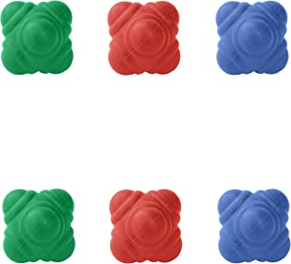 GSI Bounce Reaction Balls for Agility Reflex and Coordination Training (72 mm) (Pack of 6)