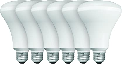 TCP BR30 Recessed LED Flood Light Bulbs, 65W Equivalent, Non-dimmable, Soft White, Value (6 Pack)