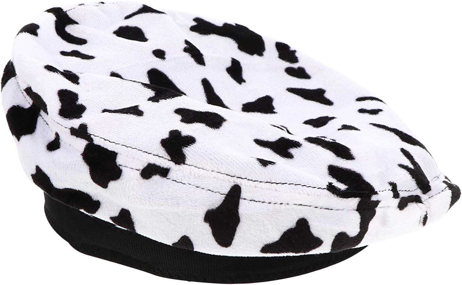 KESYOO Beret Hat Newsboy Cabbie Hat Soft Beret with Zebra Cow Print Gifts for Men Women Winter Christmas Birthday Party