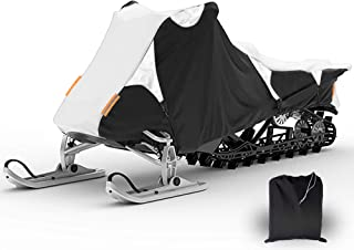 Coverify Snowmobile Cover Waterproof, Snow Machine Sled Cover Fit for Polaris, Snowmobile Travel Cover