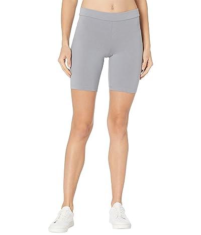 HUE High-Waist Blackout Cotton Bike Shorts (Granite) Women