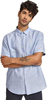 DJ & C By FBB Regular Fit Classic Collar Shirt Blue