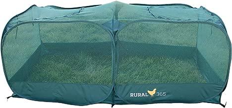 Rural365 | Portable Chicken Run – Large Pop-Up Chicken Pen for Small Animals – Outdoor Pet Enclosure Outdoor Rabbit Run