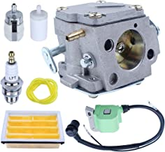 Adefol Carburetor for Husqvarna 268 272 272XP 61 266 Chainsaw 503280316 503901401with Ignition Coil Air Fuel Filter Line Kit