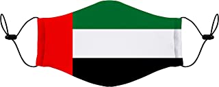Fabric 2 Layer face mask Reusable Washable Mask Size 20x13 cms with adjustable Ear loop - UAE Flag