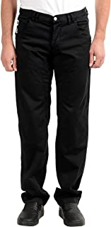 Gianfranco Ferre Men's Black Stretch Casual Pants US 34 IT 50