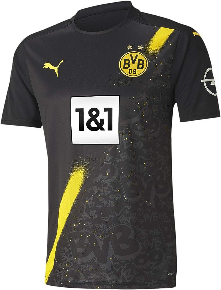 PUMA Mens Borussia Dortmund Away Football T-Shirt 20/21