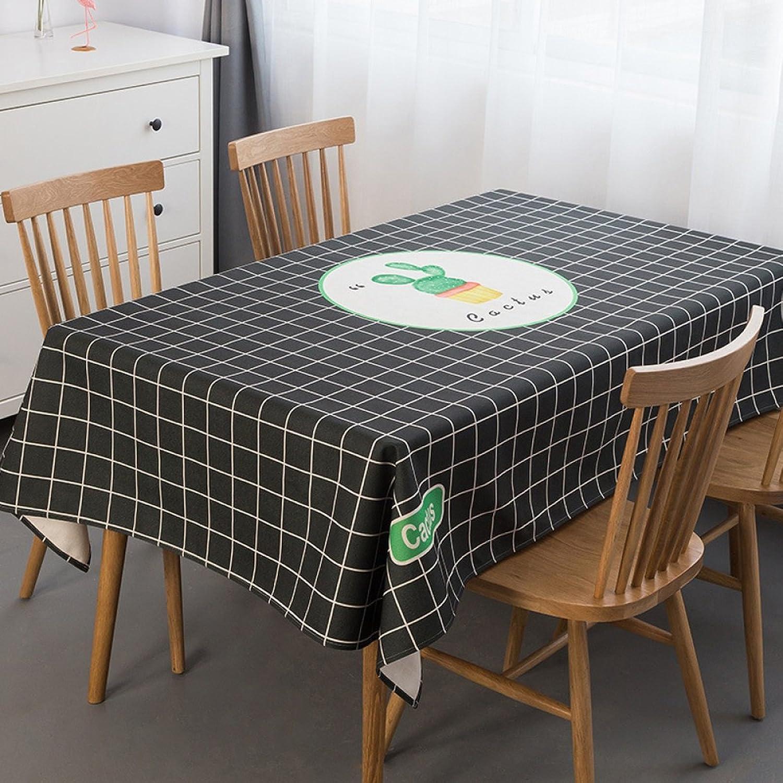 PVC Nappe étanche Anti-échaudage résistant à l'Huile de Table jetables Tissu Tissu Frais de Petite Table Mat Simple Moderne Rectangle-C 100x160cm 39x63inch Nappes Cuisine & Maison