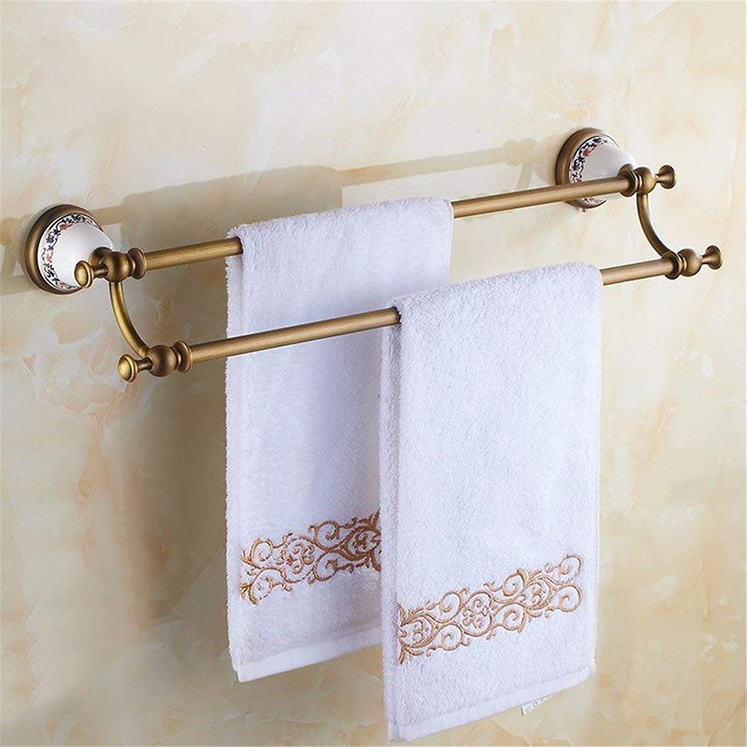 European Style of Copper Base Full Archaize Accessories for Bathroom with Ceramic and Hair-Towels, Bipolar