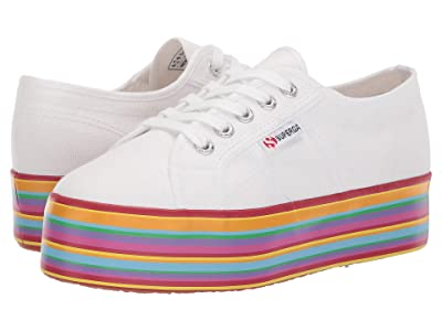 Superga 2790 Multicolor Cotw (White Multi) Women