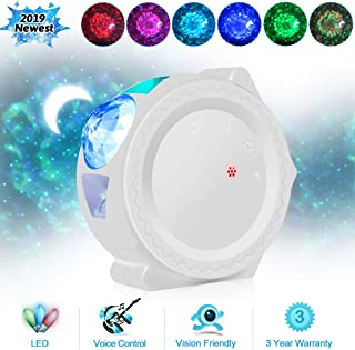 Starry Sky Projector LED Nebula Cloud Night Light 6 Colors Ocean Waving Light 360 Degree Rotation Night Lighting Lamp for Kids Party Birthday