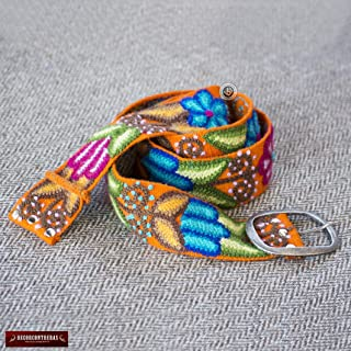 Embroidered Belts for Women S,M,L,XL- Womens Belts, Embroidered belt from Peru, Colorful Floral Wool Belts, hand-woven Peruvian belts