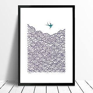 """""""Tragar"""" de impresión en (tamaño A3) amatista y la bahía de Biscay"""