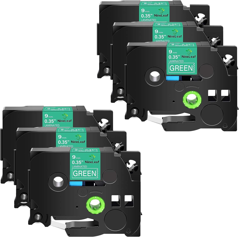 NineLeaf 6 Pack Compatible for TZ-725 TZ7 Brother 1 year OFFicial warranty TZe725 TZe-725