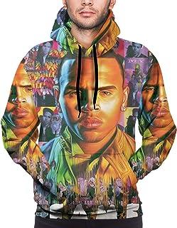 3D Printed Chris Brown F.A.M.E. Hoodies Casual Men`s Hoodie Sweatshirts Black