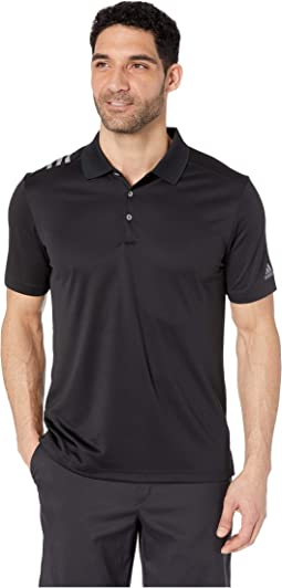 93546243 adidas Golf. Ultimate 3-Stripes Heather Gradient Polo. $64.95. Black/Grey  Three