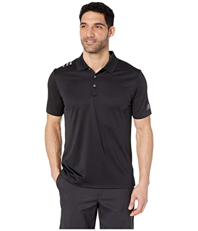 adidas Golf 3-Stripes Polo (Black/Grey Three) Men