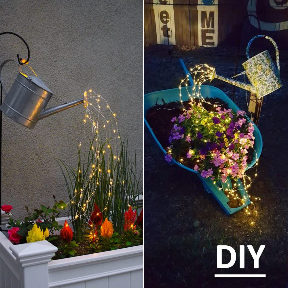 Amazon.com Soltuus Solar Fairy String Lights Outdoor, Multi ...