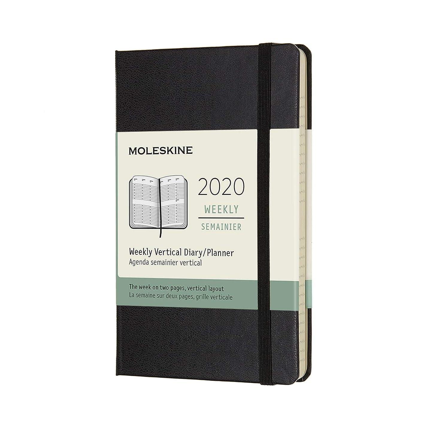 申請者謝る無礼にモレスキン 手帳 2020年 1月始まり 12ヶ月ウィークリーダイアリー バーチカル(縦型) ハードカバー ポケットサイズ ブラック DHB12WV2Y20-e