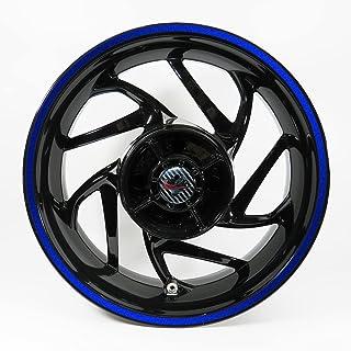 BIKE-label Klistermärken för fälgkant uppsättning reflex blå bredd 9 mm – hela cirkeln för 16 tum 17 tum 18 tum bil motorc...
