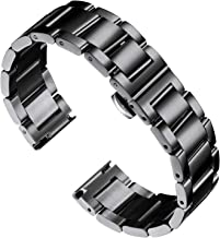 BINLUN Stainless Steel Watch Bracelets Replacement Metal Watch Band Polished Matte Brushed Finish Solid Strap for Men Wome...