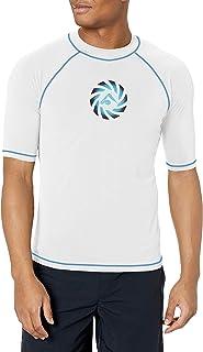 Kanu Surf Men's Banzai UPF 50+ Sun Protective Rashguard Swim Shirt Rash Guard Shirt