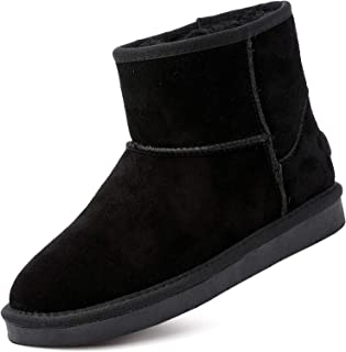Women's Winter Snow Boots Fur Lined Mid Calf and Mini Outdoor Warm boot Shoes Ankle Short Booties