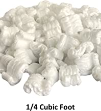 1/4 Cu Ft White Anti Static Packing Peanuts Popcorn S Shape Loose Fill | Magicwater Supply
