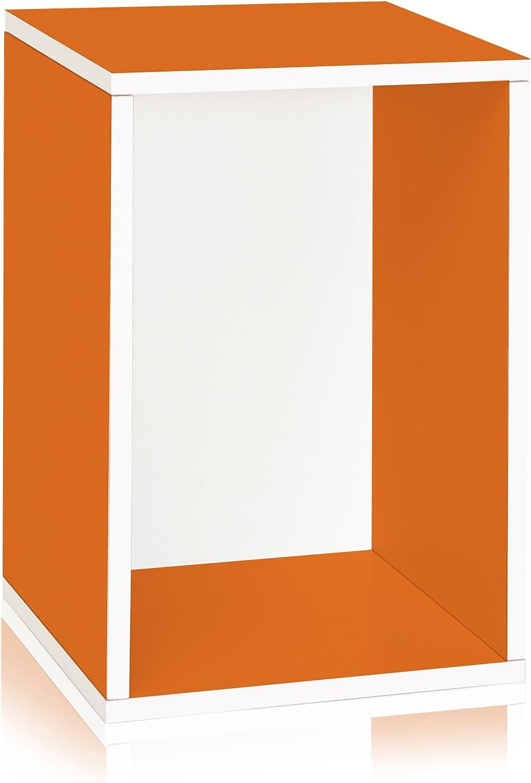 Way Basics WB-VRECT-OE greenical Blox Storage and Stackable Shelving, orange