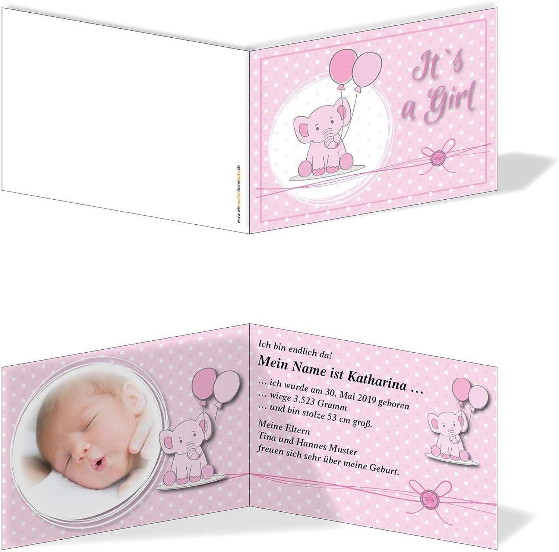 Geburtskarten Babykarten individuell - Mädchen Rüsseltier B07MZW1RSW | | | Neuer Eintrag  c30930