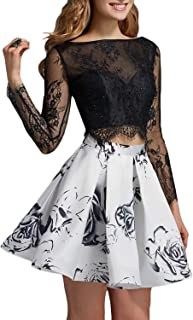 Women's Floral Print Long Formal Prom Party Gown