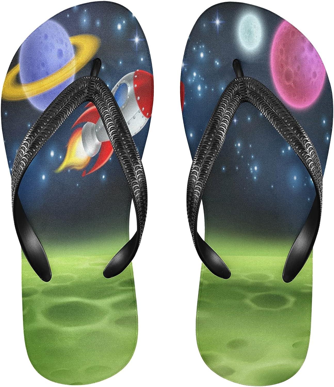 ! Super beauty product restock quality top! Linomo Men's Universe Space Planet Airship Slim Flip Max 90% OFF Flop Summer