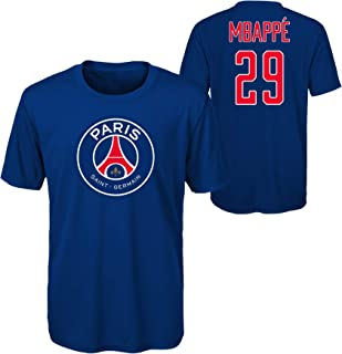 World Cup Soccer Boys Mbappe Name and Number Short Sleeve Tee (Large 14-16)