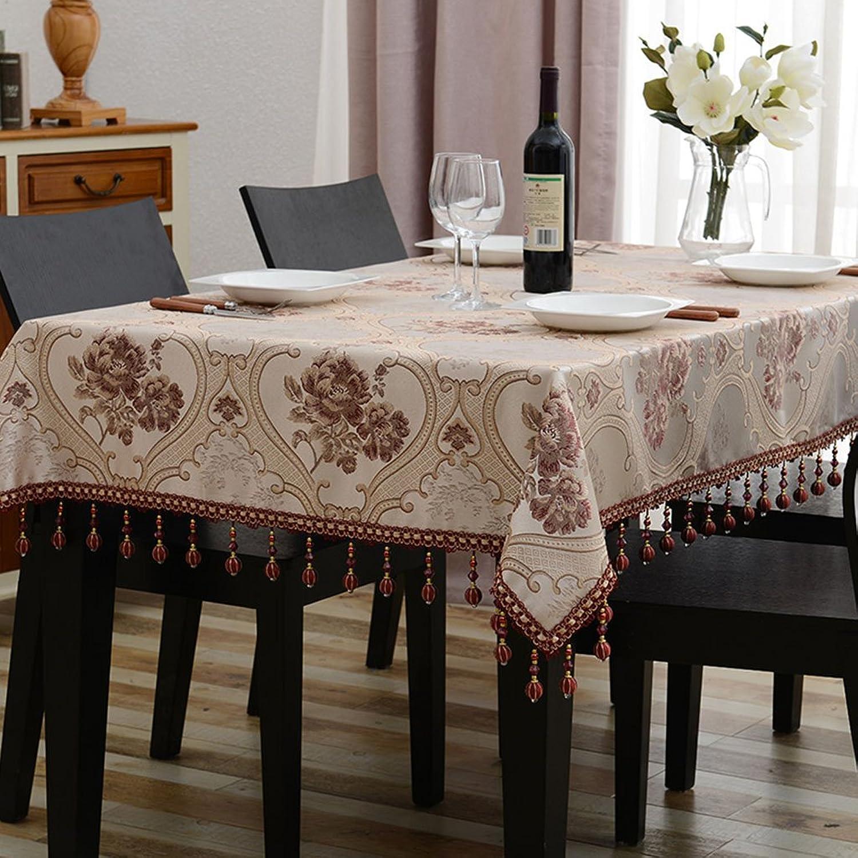 William 337 Tischdecke Rechteck Europischen Tee Tisch Eine Lange Tischdecke Wohnzimmer Tischdecken (Farbe   D, gre   140  200cm)