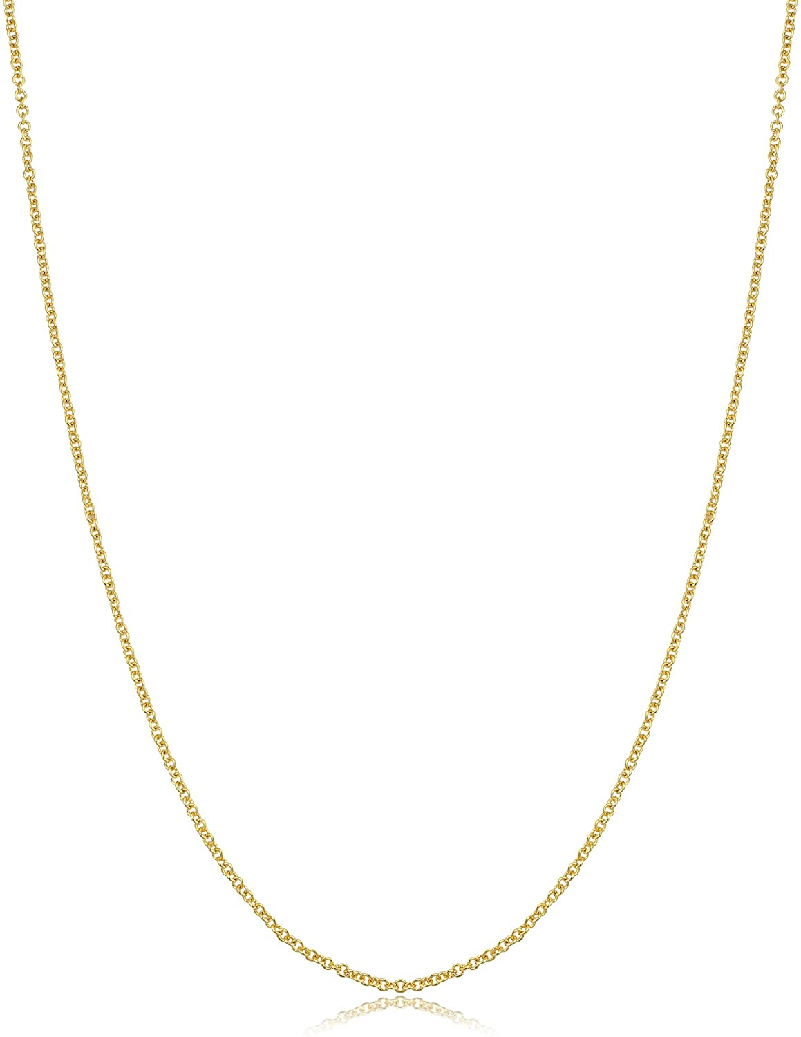 14k Yellow Gold Filled or White Gold Filled 1 mm, 1.3 mm, 1.5 mm or 2.1 mm Cable Pendant Chain Necklace