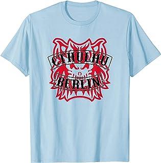 Adult Swim 4BLOCKS Cthulhu Berlin Black on Red Devil T-Shirt