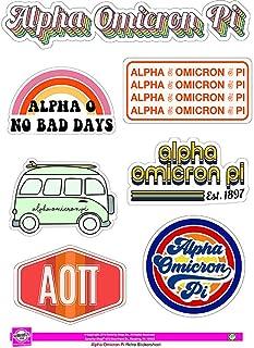 Alpha Omicron Pi - Sticker Sheet - Retro Theme