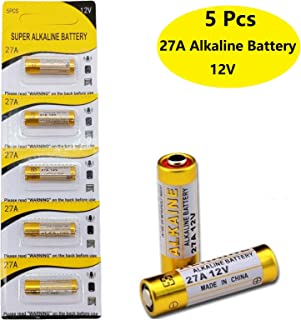 Cotchear 5Pcs 12V 27A Alkaline Battery 27A 12 Volt Batteries 27A 12V 21/23 E23A Alkaline Batteries